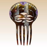 Faux Tortoiseshell Hair Comb Victorian Mantilla Style Hair Accessory