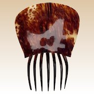 Georgian Hair Comb Spanish Mantilla Style Steer Horn Hair Accessory