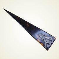 Victorian Single Prong Hair Comb or Hair Sword Faux Tortoiseshell Hair Accessory