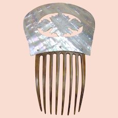 Victorian Hair Comb Mother of Pearl Spanish Style Bridal Hair Accessory