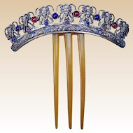 Victorian Hair Comb Archaeological Greek Revival Hinged Hair Accessory