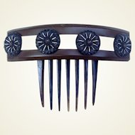Victorian Mourning Hair Comb Dyed Horn Hair Accessory