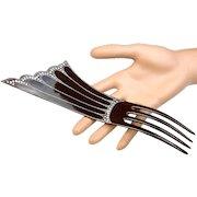 Art Deco Hair Comb Large Black Celluloid Spectacular Hair Accessory