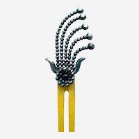 Victorian cut steel hair comb aigrette style hair ornament