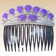 Vintage Navajo Sugilite Hair Comb Wilson Begay Native American Hair Accessory