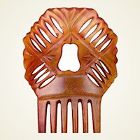 Spanish Mantilla Comb With Provenance Victorian Steer Horn Hair Accessory