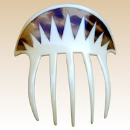 Art Deco parti color hair comb hair accessory