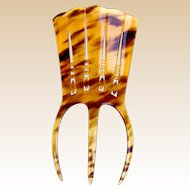 Art Deco faux tortoiseshell hair comb Spanish style hair accessory
