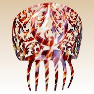 Spanish mantilla comb celluloid faux tortoiseshell hair accessory