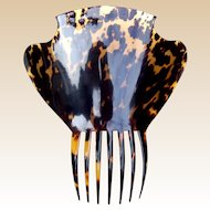 Late Georgian hair comb tortoiseshell Spanish style hair accessory (ABA)