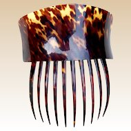 Victorian Spanish style hair comb faux tortoiseshell hair accessory (ADA)