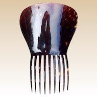 Victorian faux tortoiseshell hair comb Spanish mantilla style hair accessory (AGA)