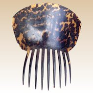 Georgian tortoiseshell hair comb Spanish style hair accessory (AHA)