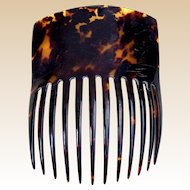 Victorian Spanish style hair comb faux tortoiseshell hair accessory (AIA)