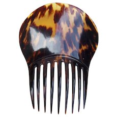 Victorian Spanish style hair comb faux tortoiseshell hair accessory AJA)