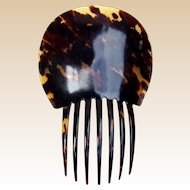 Victorian Spanish style hair comb faux tortoiseshell hair accessory (ALA)