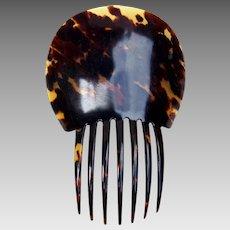 Victorian Spanish style hair comb faux tortoiseshell hair accessory (ALA)