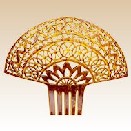 Large two toned hair comb Spanish style Art Deco hair accessory