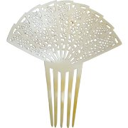Hair comb French Ivory Spanish style hair accessory