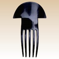 Art Deco hair comb vintage black celluloid hair accessory