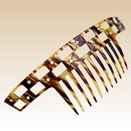 Art Deco bandeau style hair comb faux tortoiseshell hair accessory