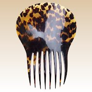 Regency period hair comb natural tortoiseshell Spanish mantilla style hair accessory