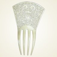 French Ivory hair comb Art Deco Spanish style bridal hair accessory