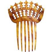 Steer horn hair comb Victorian Spanish mantilla style hair accessory