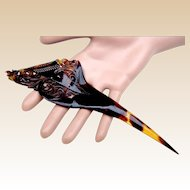 Single pronged faux tortoiseshell pique hair comb or dagger hair accessory