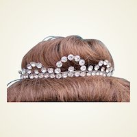 Vintage rhinestone tiara hair accessory summer bridal wedding headdress