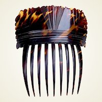 Regency hair comb pressed tortoiseshell Spanish mantilla style hair accessory