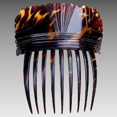 Regency hair comb pressed tortoiseshell Spanish mantilla style hair accessory