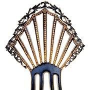 Art Deco hair comb celluloid Spanish style hair accessory