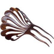 Large Spanish Art Deco mantilla style hair comb hair accessory