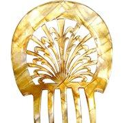Art Deco celluloid hair comb Spanish mantilla hair accessory
