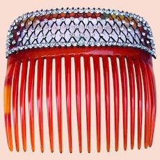 Edwardian hair comb rhinestone bridal hair accessory