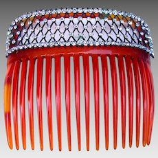 Edwardian hair comb rhinestone hair accessory