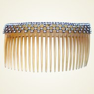 Edwardian rhinestone hair comb bridal hair accessory