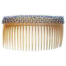 Edwardian rhinestone hair comb bridal hair accessory