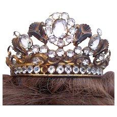 Santos crown for Virgin Mary or Madonna shabby crown headpiece