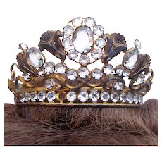 Santos crown for Virgin Mary or Madonna shabby crown headpiece