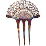 Art Deco two toned hair comb Spanish style hair accessory