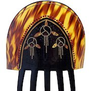 Art Deco Spanish style hair comb with stylised roses hair accessory