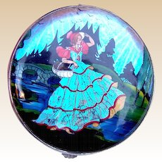 Gwenda powder compact mid 1930s butterfly wing