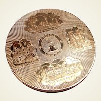 London souvenir powder compact mid century