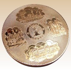 London souvenir powder compact mid century