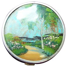 Coty Art Deco powder compact mid 1930s butterfly wing