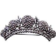 Victorian cut steel hair barrette hair accessory