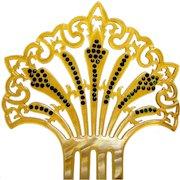 Art Deco Spanish style celluloid hair comb hair accessory