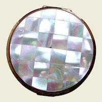Stratton of England powder compact mid century mother of pearl bridesmaid gift